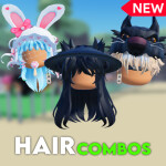 [  🎃 TRY ON 700+ 🎃 ] Hair Combo Shop